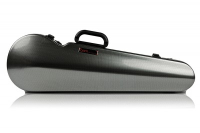 BAM 2002XLSC Hightech contoured violin case, silver carbon .