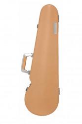 """BAM TX2002XLCN Hightech Contoured """"Texas"""" Violin Case, Natural Cow Leather"""