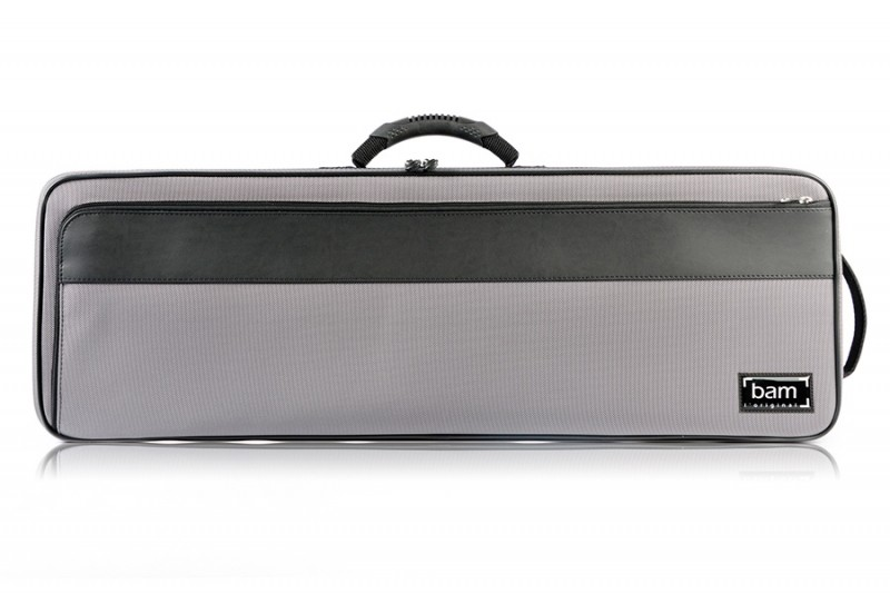 BAM 2002BG Artisto oblong violin case, grey .