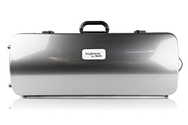 BAM 2201XLSC Hightech Oblong Viola case, silver carbon .