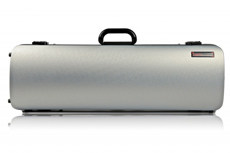 BAM 2001XLS Hightech oblong case f. violin, silver .