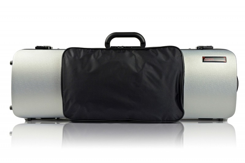 BAM 2011XLS Hightech oblong violin case with pocket, silver .