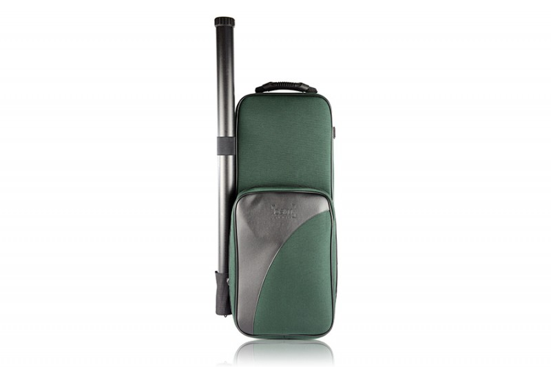 BAM 2001SF Trekking Violin case, forest green .