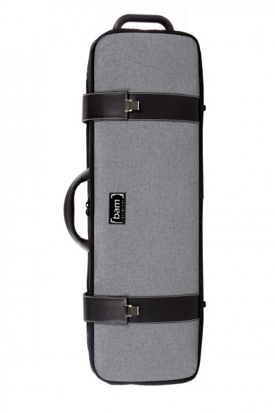 BAM 2001GF Hightech Oblong Violin Case, Grey Flannel .