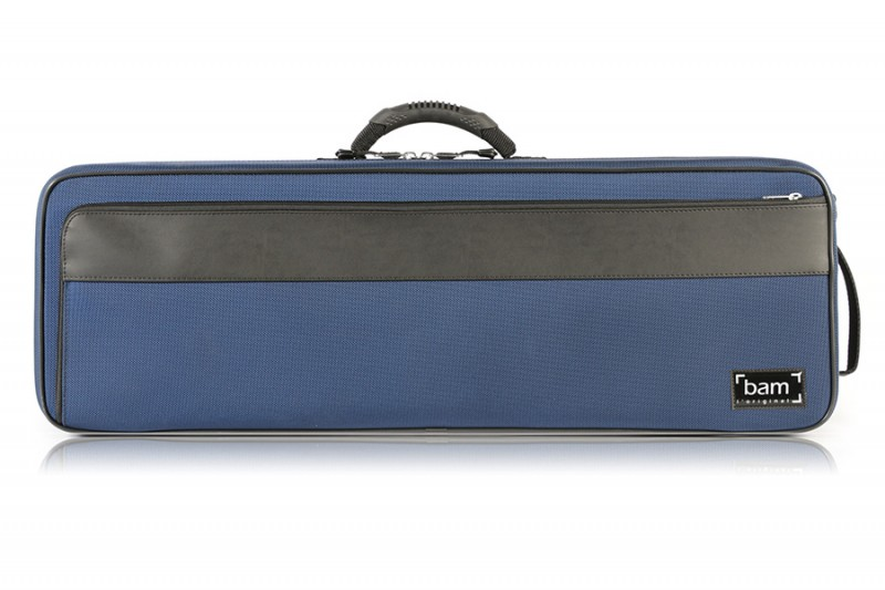 BAM 2002BB Artisto oblong violin case, navy blue .