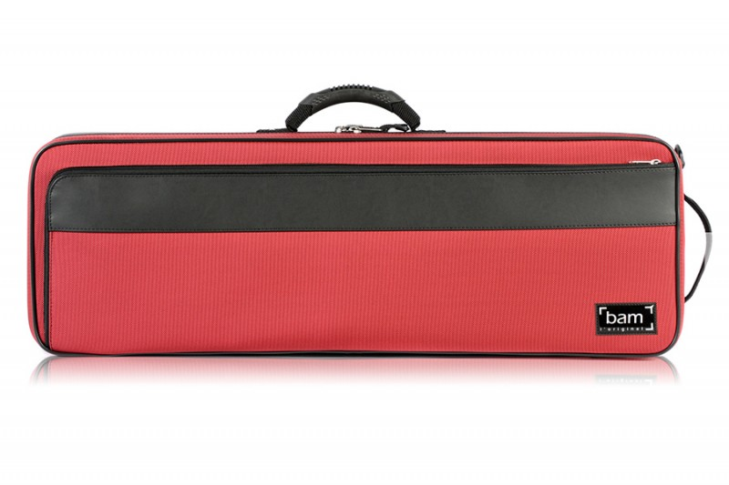 BAM 2002BR Artisto oblong violin case, red .