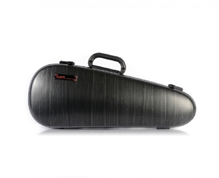 BAM 2003XLLB Hightech Overhead Violin case, black lazure