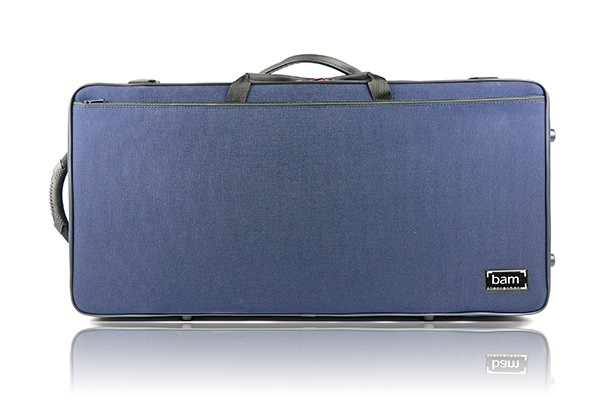 BAM 2006SM DOUBLE CASE f. violin/viola, blue .