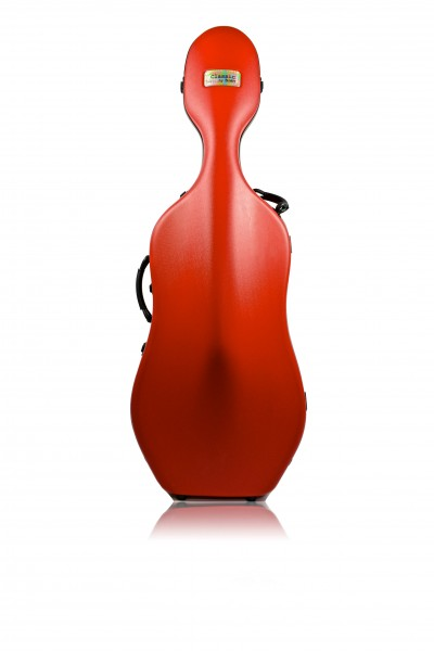 BAM 1001SWR Classic Cello case with wheels, red