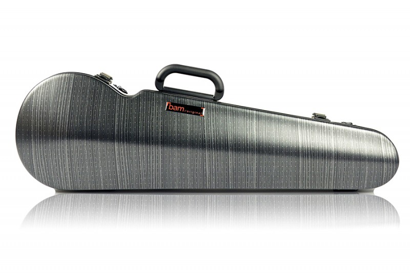 BAM 2002XLLB Hightech contoured violin case, black lazure .