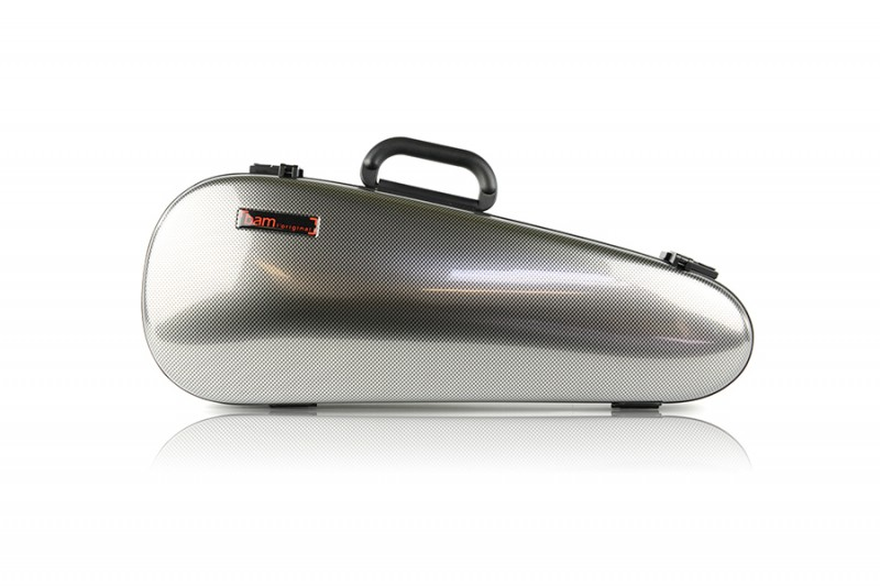 BAM 2003XLSC Hightech Overhead Violin case, silver carbon .