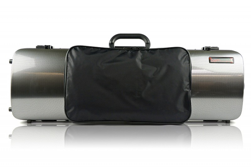 BAM 2011XLSC Hightech violin case with pocket, silver carbon .