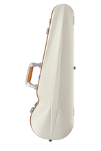 BAM SUP2002XLWO Supreme Violin Contoured Case, White-Orange