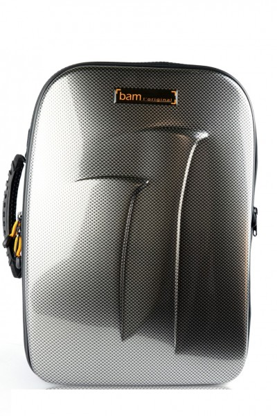 BAM TREK3027MSSC New Trekking Bb Clarinet/Music Stand Case, silver carbon look