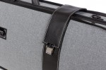BAM 5201GF Hightech Oblong Viola Case, Grey Flannel .