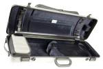 BAM 2011XLS Hightech Geigenetui m. Notentasche, silber .